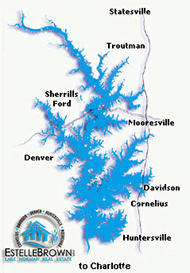 Map of Lake Norman Towns